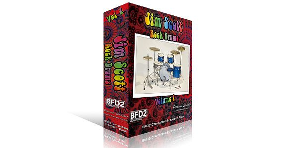 Jim Scott Rock Drums Vol 1 for BFD