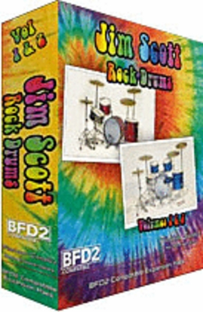 Jim Scott Rock Drums Vol 1&2 for BFD