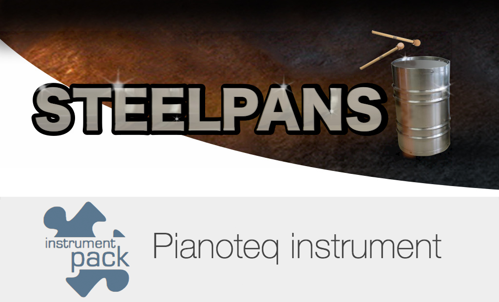 Steelpans (Steel Drum, Spacedrum, Hand Pan, Tank Drum) add-on for Pianoteq