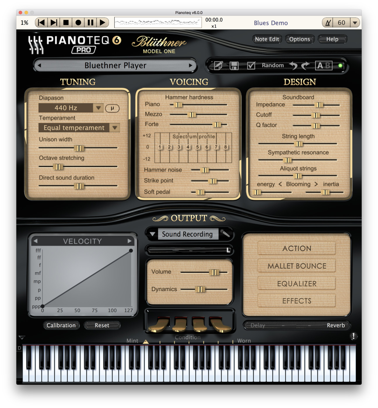 Bluthner Model 1 add-on for Pianoteq
