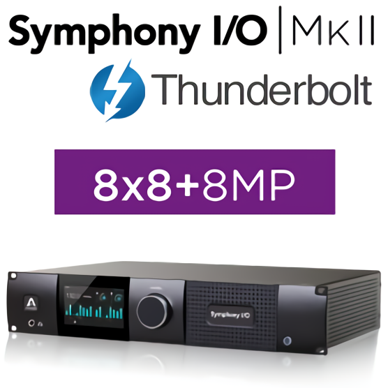 Symphony I/O MKII Thunderbolt Chassis with 8x8 Analog I/O + 8x8 AES/OP I/O + 8 Mic Pre Amp Module (Both slots populated)