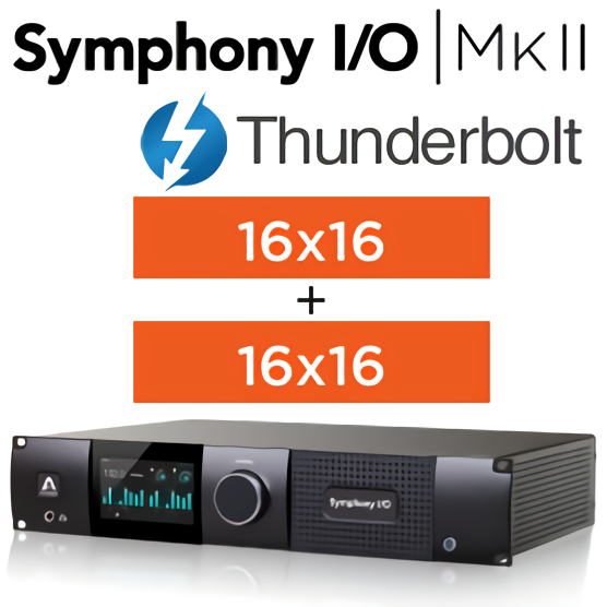 Symphony I/O MKII Thunderbolt Chassis with 16 Analog In + 16 Analog Out+16 Analog In + 16 Analog Out