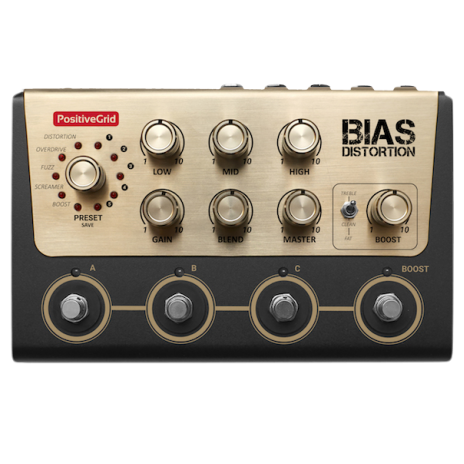 BIAS DistortionTone Match Distortion Pedal (4 Button)