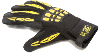 ORIGINAL GIG GLOVES (Black/Yellow) Large