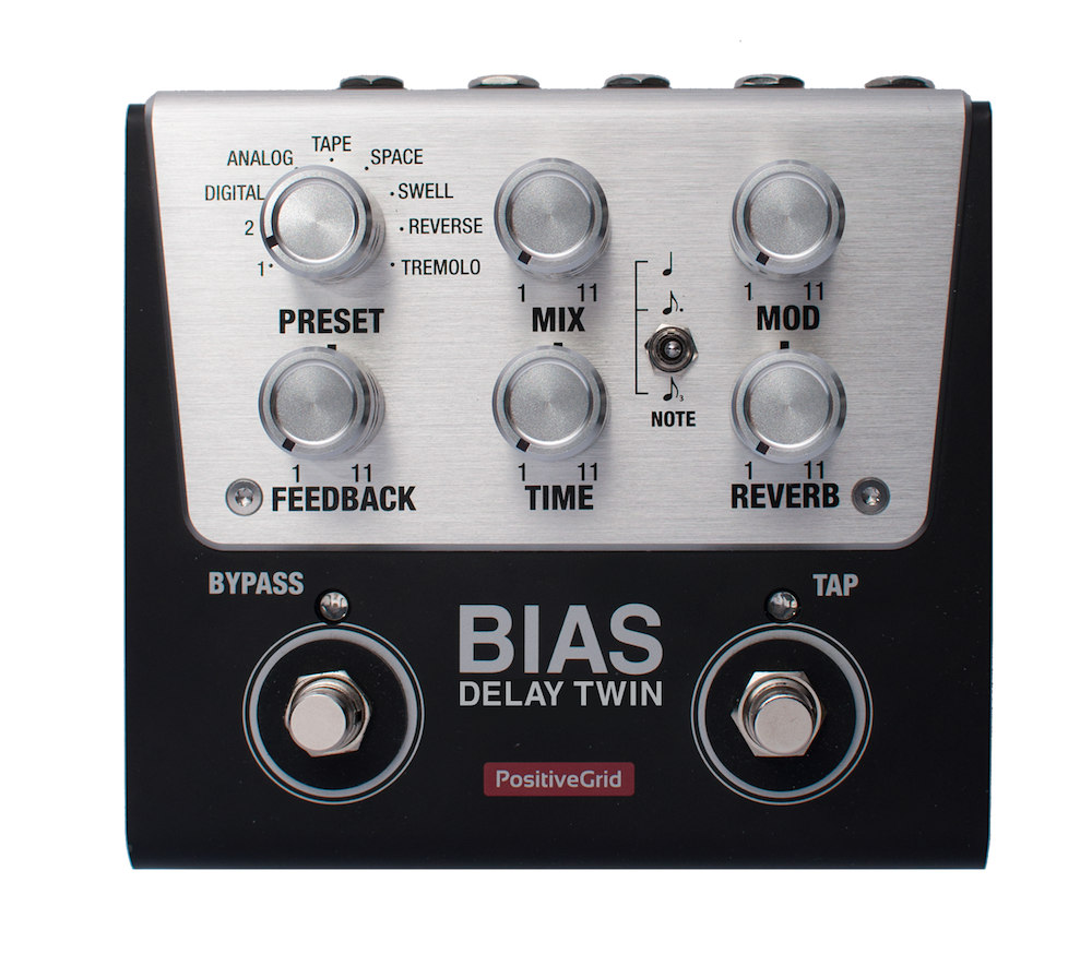 BIAS Delay Twin  Tone Match Delay Pedal (2 Button)