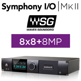 Symphony I/O MKII SoundGrid Chassis with 8x8 Analog I/O + 8x8 AES/OP I/O + 8 Mic Pre Amp Module (Both slots populated)