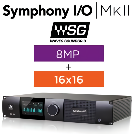 Symphony I/O MKII Sound Grid Chassis with 16 Analog In + 16 Analog Out + 8 Mic Pre Amp Module (Both slots populated)