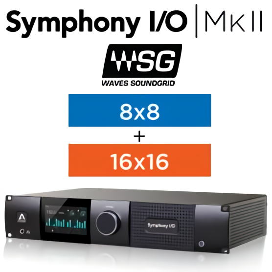 Symphony I/O MKII SoundGrid Chassis with 16 Analog In + 16 Analog Out +8 Analog In + 8 Analog Out