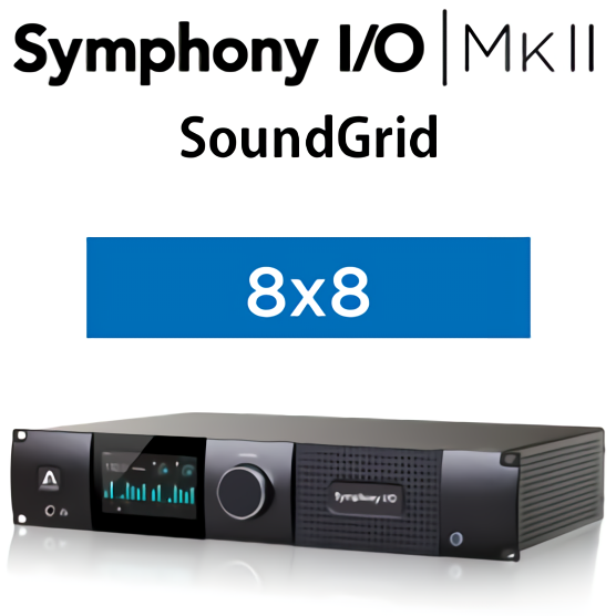 Symphony I/O MKII SoundGrid Chassis with 8x8 Analog I/O + 8x8 AES/Optical I/O + 2-Ch S/PDIF