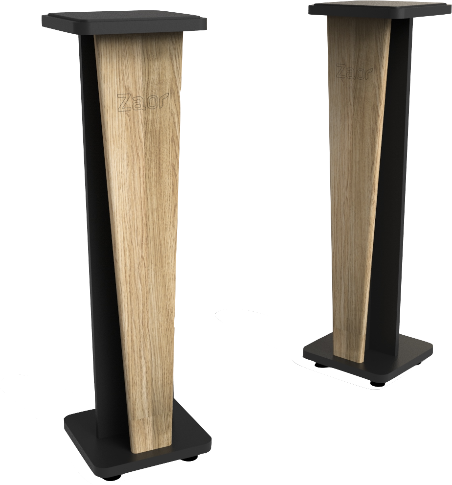 Croce Stand 42 (pair) Oak/Black