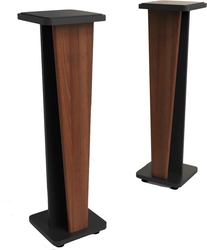 Croce Stand 42 (pair) Walnut/Black