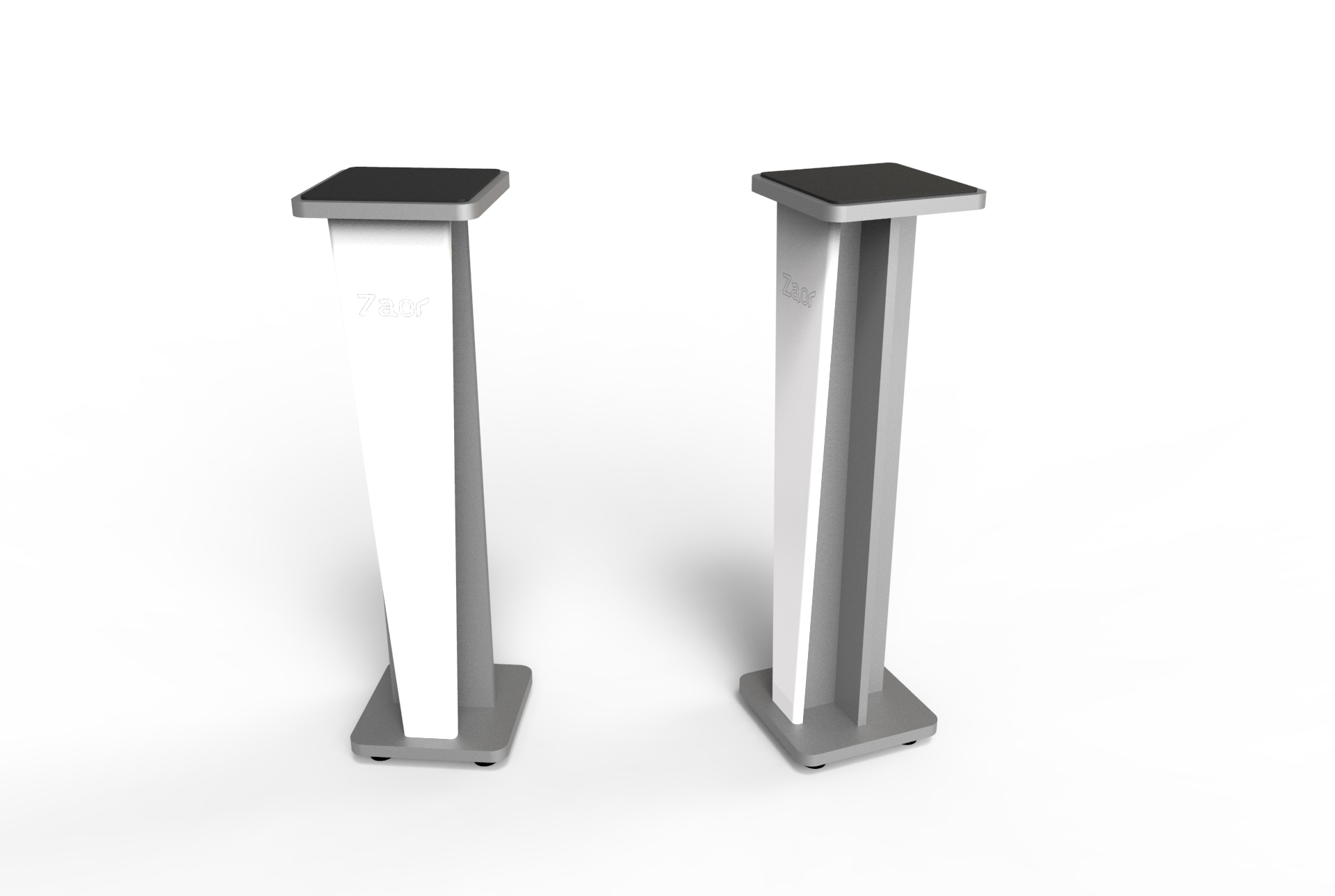 Croce Stand 36 (pair) White Gloss/Grey