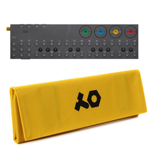 OP-Z with yellow case