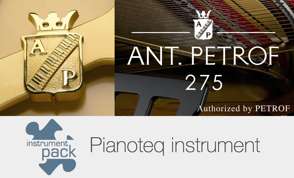 Ant. Petrof 275 grand piano add-on for pianoteq