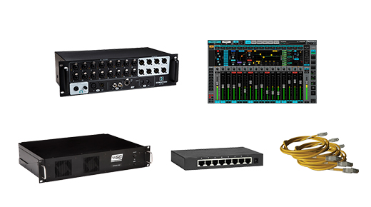eMotion LV1 16-Preamp StageBox ComboStageBox and SGS C server