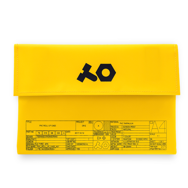 OP-Z pvc roll up yellow bag