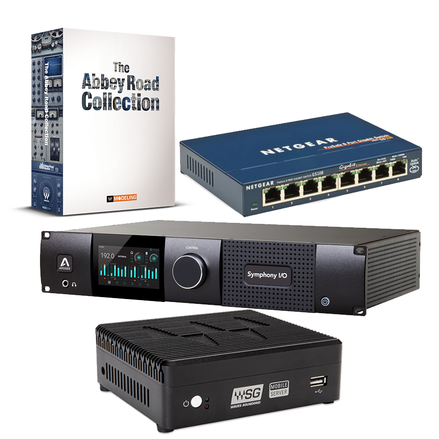 Mobile Server & Symphony I/O MKII SoundGrid 8x8 & Netgear GS108 + 無償特典:Abbey Road Collection